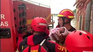 Watch: Spanish authorities rescue those stranded by floodwaters
