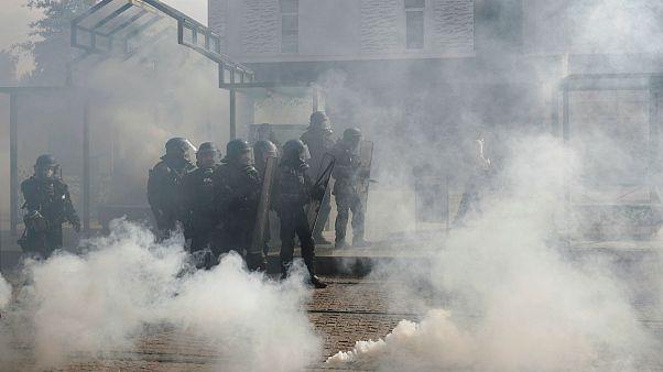 درگیری پلیس فرانسه با «جلیقه زردها» در نانت