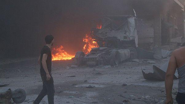 حمله هوایی ارتش سوریه به شهر «معره نعمان» در جنوب استان ادلب