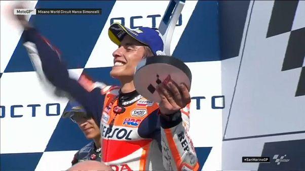 MotoGP: Marc Marquez vince a San Marino, quarto Rossi