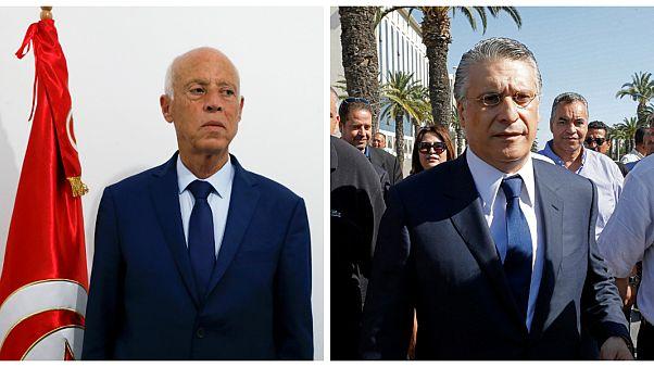 المرشحان للانتخابات الرئاسية التونسية قيس سعيّد ونبيل القروي