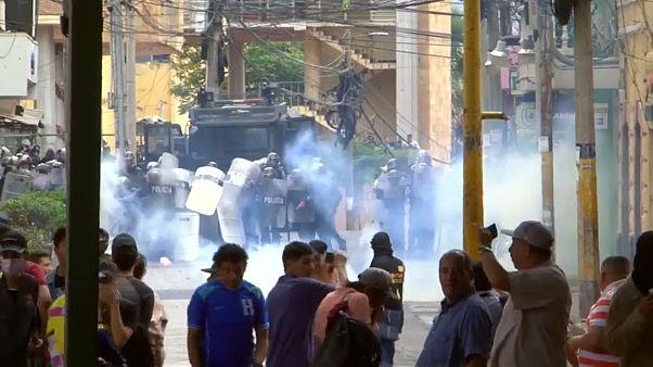 Protestas y choques en Honduras en el día de la Independencia