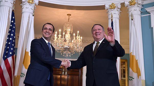 Kıbrıs Dışişleri Bakanı Nikos Christodoulides Kasım ayında ABD Dışişleri Bakanı Mike Pompeo ile görüşmüştü