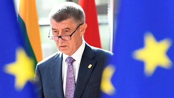 Czech Republic's Prime Minister Andrej Babis arrives to take part in a European Union leaders summit
