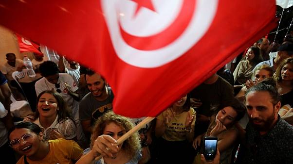 هواداران نبیل قروی در انتخابات ریاست جمهوری تونس