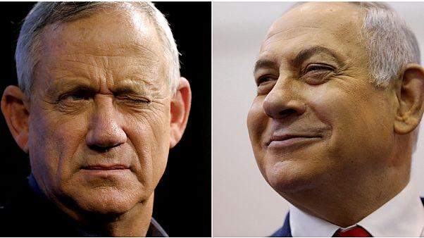 Mavi Beyaz İttifak lideri Benny Gantz / İsrail Başbakanı Binyamin Netanyahu
