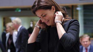 Varga Judit a brüsszeli meghallgatás előtt, 2019 szeptember 16-án