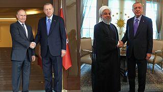 Erdoğan'ın Türkiye-İran-Rusya zirvesi öncesindeki ikili görüşmeleri sona erdi