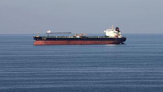 Oil tankers in the Strait of Hormuz on December 21, 2018.