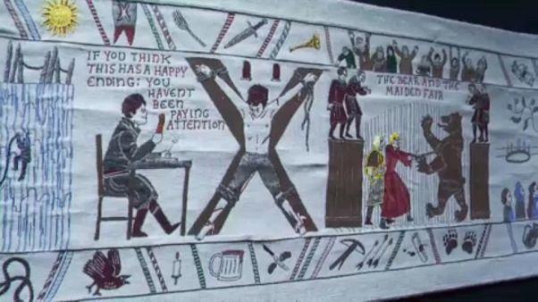 """Tapeçaria gigante da """"Guerra dos Tronos"""" pode ser vista em Bayeux"""