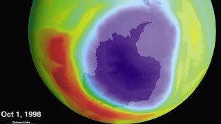 Ózónlyuk az Antarktisz felett