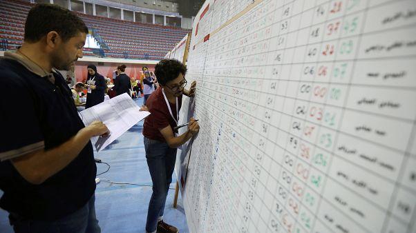 Centre de dépouillement électoral à Tunis (Tunisie), 16/09/2019