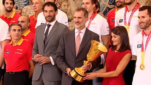 A világbajnokokat éltették Madridban