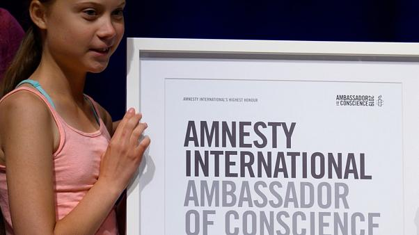 "Amnesty International fait de Greta Thunberg son ""ambassadrice de conscience"""