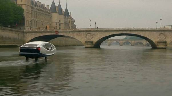 Watch Paris Tests Flying Taxi As Future Of City Transport