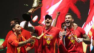 Spain celebrates World Cup basketball victory