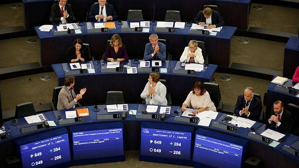 Les eurodéputés au Parlement européen à Strasbourg