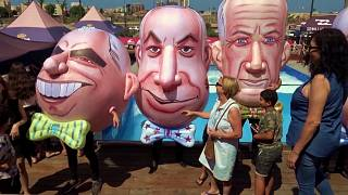 Israelis flock to beaches and malls on election day