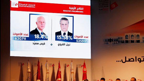 Annonce des résultats du 1er tour de la présidentielle tunisienne, Tunis, le 17/09/2019