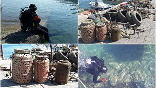 Αφαίρεσαν 800 κιλά σκουπίδια από τον βυθό στο Τολό (vid)