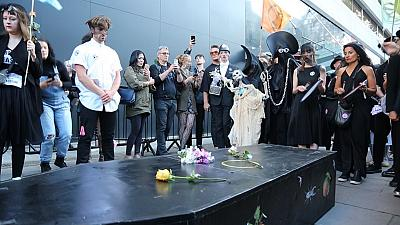 Black is back in for fashion funeral at final day of Fashion Week