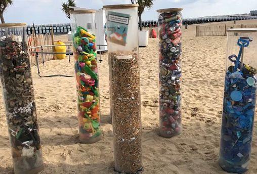 Belgique : avec l'ONU et l'UE, des écoliers nettoient la plage d'Ostende