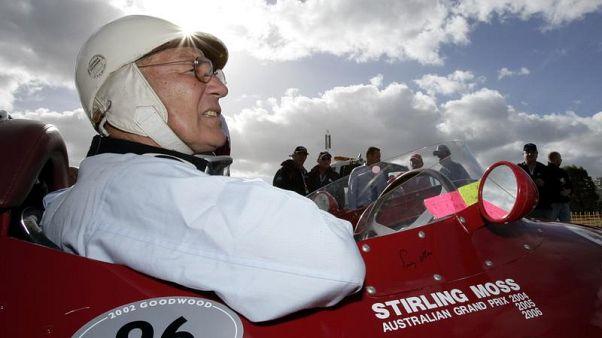 2 aprile 2006: Stirling Moss a Melbourne al volante di una Maserati.