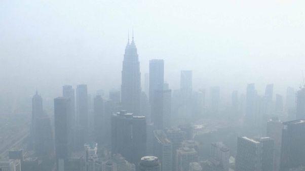 Густой смог над Куала-Лумпуром