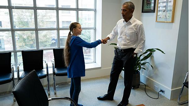 When Greta met Obama: 'You and me, we're a team,' says former US president