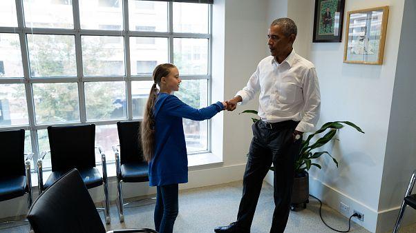 """Quando Greta incontra Obama: """"Io e te siamo una squadra"""""""