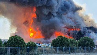 Tuzla'da yangın