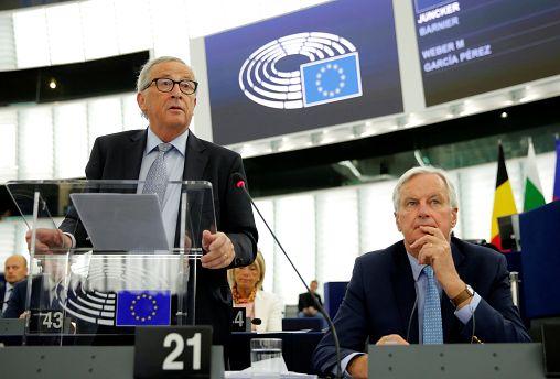 Jean-Claude Juncker et Michel Barnier