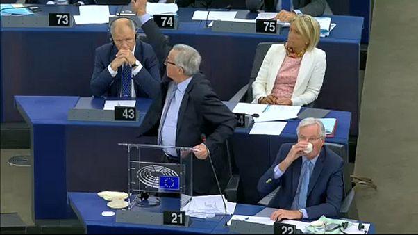 El Brexit enciende los ánimos en el Parlamento Europeo