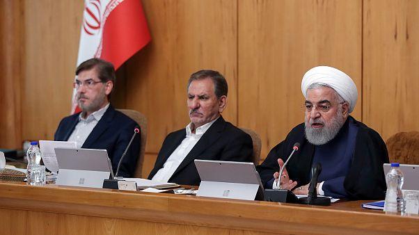 الرئيس الإيراني حسن روحاني يتحدث خلال اجتماع مجلس الوزراء في طهران، إيران ، 18 سبتمبر 2019