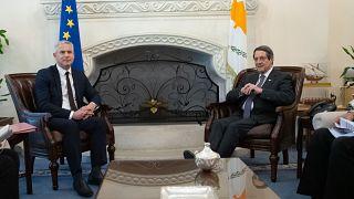 Ο Πρόεδρος της Δημοκρατίας κ. Νίκος Αναστασιάδης δέχεται τον Βρετανό Υπουργό αρμόδιο για το Brexit κ. Stephen Barclay