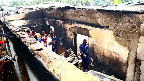 Al menos 27 niños han muerto debido a un incendio en un colegio de Liberia