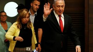 Israeli Prime Minister Benjamin Netanyahu arrives to deliver a statement during a news conference in Jerusalem September 18, 2019.