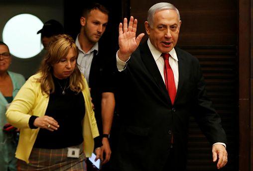 Israeli Prime Minister Benjamin Netanyahu arrives to deliver a statement during a news conference in Jerusalem September 18, 2019.