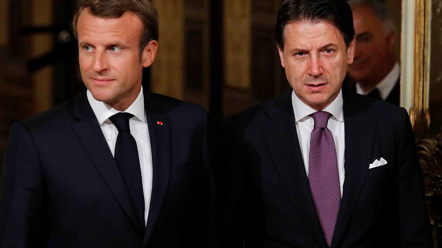 Emmanuel Macron And Giuseppe Conte Talk Migration Policy In Rome Euronews