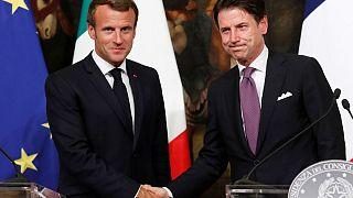 Macron y Conte, reencuentro tras meses de profunda crisis franco-italiana