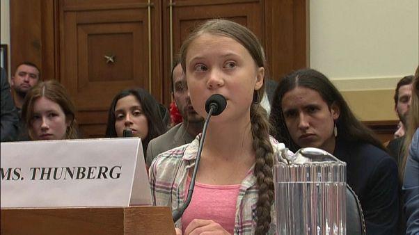 Az amerikai politikusoknak üzent Greta Thunberg