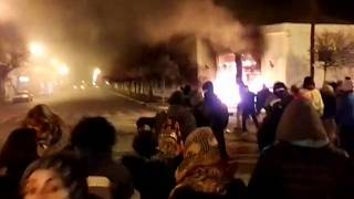 Protesters set fire to local government building in Argentina after teacher deaths