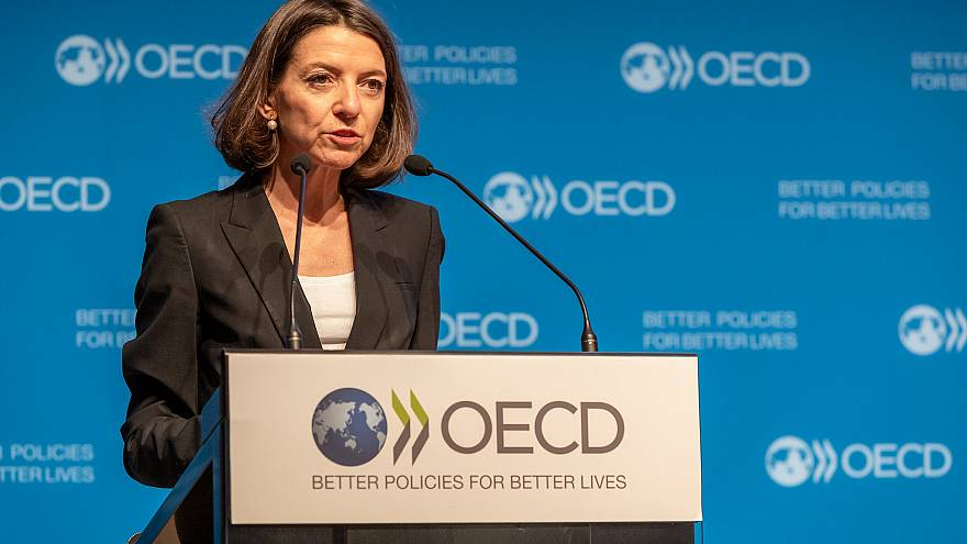 19 September 2019 – Laurence Boone, Chief Economist of the OECD, presented the Interim Economic Outlook.\nOECD, Paris, France.\n \nPhoto: OECD/Victor Tonelli