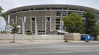 Das Ferenc Puskas Stadion in Budapest