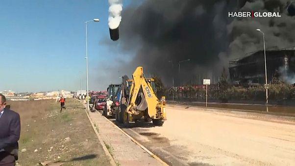 ویدئو؛ انفجار مهیب کارخانه مواد شیمیایی در ترکیه