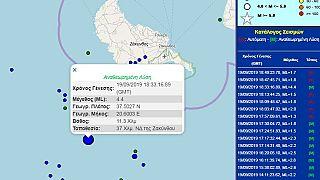Σεισμός 4,4 ρίχτερ ανοιχτά της Ζακύνθου