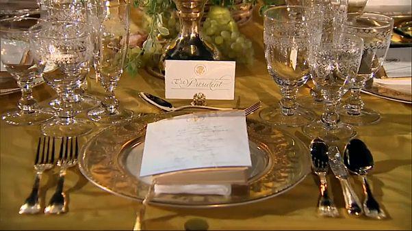 """""""بذخ ترامب وذهبه"""".. في عشاء على شرف رئيس الوزراء الاسترالي بالبيت الأبيض"""