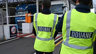 French customs officers in  in Calais, France September 17, 2019.