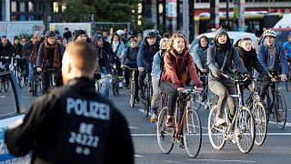 Német környezetvédők felvonulása Berlinben 2019. szeptember 20-án