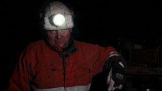 Bent Jakobsen arbeitet seit 14 Stunden in der Mine in Spitzbergen